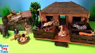 Schleich Safari Animal Nursery Playset  and Fun Animals Toys For Kids