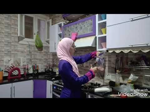 روتينى الليلى في تنظيف المطبخ