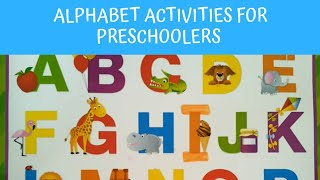 Alphabet Activities for Preschoolers. Matching Activities! DIY Early Learning at Home!