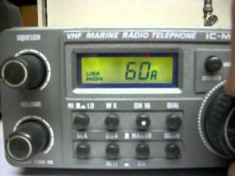 WD4AM Icom IC-M80 VHF Marine Band Radio ....