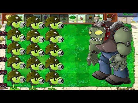 Plants vs Zombies Hack - Gatling Pea PVZ 2 PAK vs Gatling Pea PVZ vs Dr  Zomboss