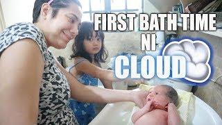 FIRST BATH TIME AT PAARAW NI CLOUD + BUMISITA SI NANAY ISHA (PURPLEHEIRESS) SA BAHAY   Nina Rayos 💋