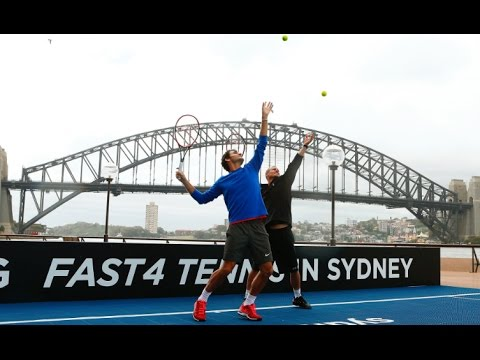Federer & Hewitt serve up Sydney Harbour spectacular