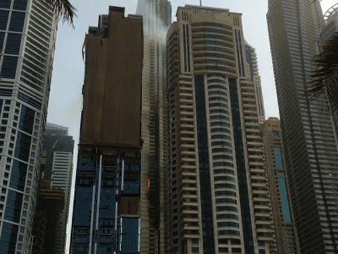 Raw: Fire Erupts in Dubai Skyscraper