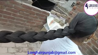 LHPB Rapunzel Mannu Heavy Hair Oiling Braid Play And Ponytail Making And Play With Healthy Hair