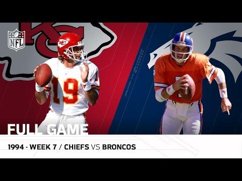 Chiefs Vs Broncos Joe Montana Vs John Elway Final Showdown