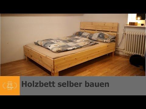 Massivholzbett selber bauen / Bett bauen ohne Werkzeug