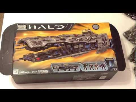Halo Mega Bloks Forward Unto Dawn # 97117 UnBoxing Review Video