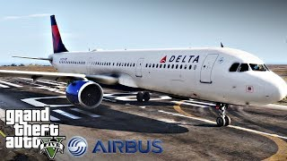GTA 5 Mods - Airbus A321-Neo (Flying From Los Santos with Delta Airlines)