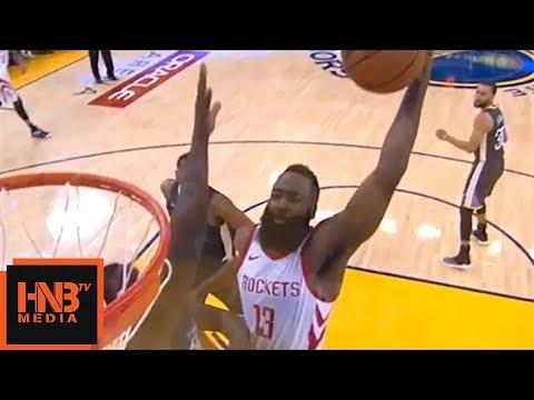 James Harden Crazy Dunk On Draymond Green / Rockets vs Warriors Game 4