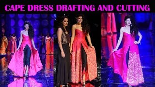Download designer cape dress DIY   drafting and cutting of designer cape dress. 3Gp Mp4