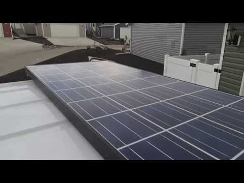 SOLAR solar panel. SOLAR SYSTEM installation in A VAN Living off the GRID
