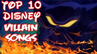 Top 10 Disney Villain Songs (Collab w/ SpaceTree88)