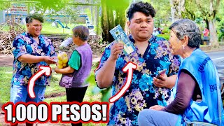GIVING 1,000 PESOS TO STRANGERS (PRANK NANAMAN?!)  | 12 Day of Christmas Ep.1