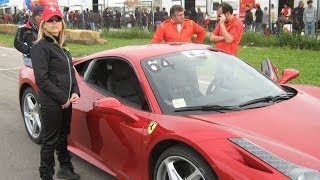 SOUND FERRARI 458 ITALIA E PORSCHE TURBO  XV MEMORIAL PERUGGINI
