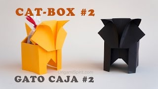 Halloween Cat and Candy Box #2 :: Gato Caja