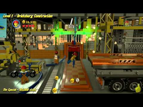 The Lego Movie Videogame: Level 1 Bricksburg Construction - STORY Walkthrough - HTG