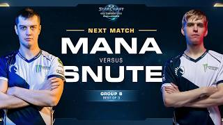 MaNa vs Snute - WCS Challenger 2018 Season 2 - EU