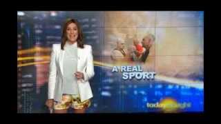 Blooper Today Tonight 030114 kylie gillies