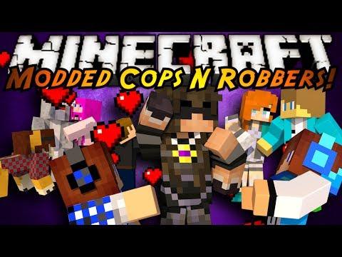 Minecraft Mini-game : Modded Cops N Robbers! Boyfriends! video