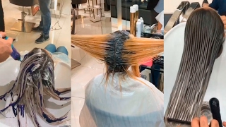 Hair color transformation by mouniiiir!  Check Out Their Hair After This!  MUST SEE