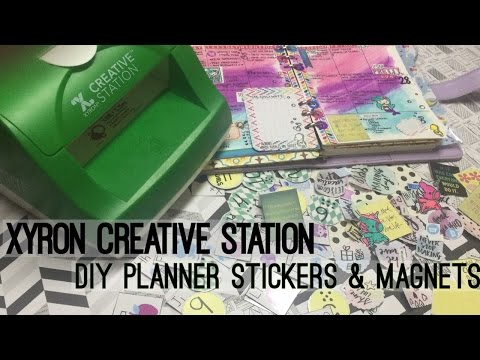 Xyron Creative Station♥DIY Planner stickers & Alphabet Magnets / RAPID REVIEW| I'm A Cool Mom
