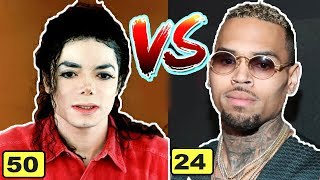 Michael Jackson vs Chris Brown | Transformation From 1 To 50 Years Old - 2018 | chris brown 2018