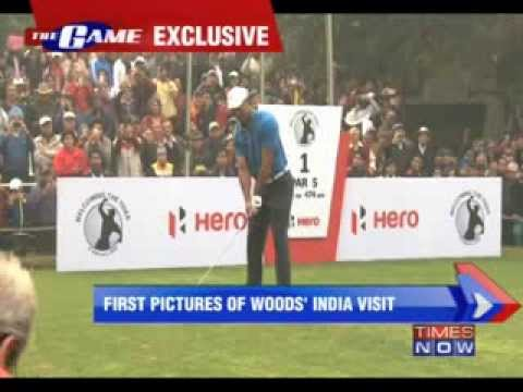 1st pictures of Tiger Woods India visit