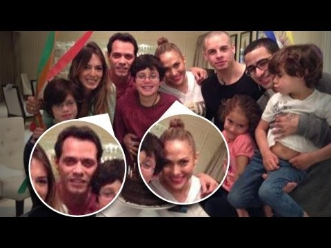 ¡JLO, Marc Anthony Y Casper Smart TODOS Juntos!!!