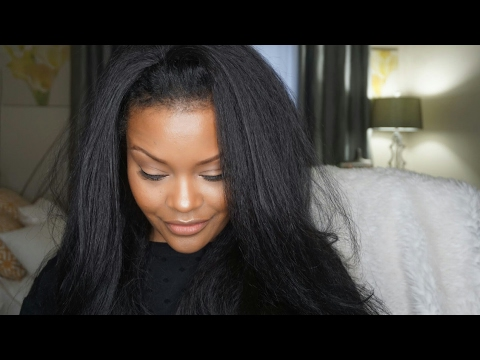 HOW TO WEAR A HALF WIG   OUTRE HALF WIG   ANNIE REVIEW AND DEMO kANEKALON hAIR