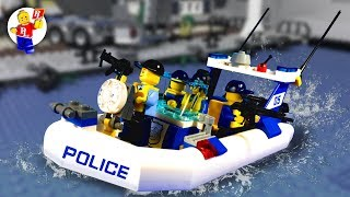Catch the Crooks - LEGO City Police - Arrest on the boat -  Lego Stop Motion Animation (HD)