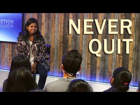 NEVER QUIT - A Truly Inspiring Story of a Young Woman (Hindi)