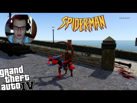 GTA IV End of The Earth Spiderman Suit Mod vs Scorpion