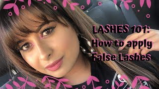 LASHES 101 : How to apply lashes | Chermel's World