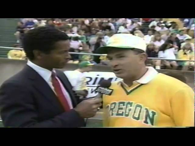 Halftime interview with Oregon head coach Rich Brooks during WSU-Oregon 9-07-91