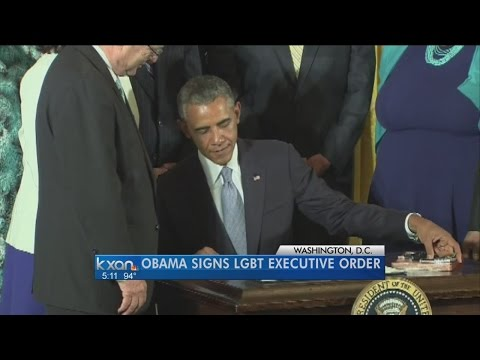 Obama gives protection to gay, transgender workers