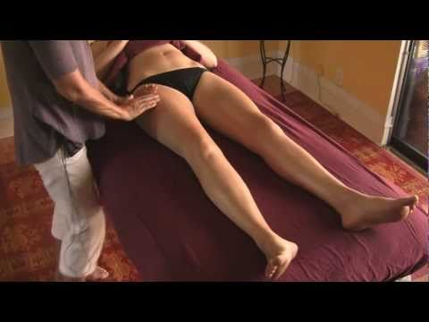 Massage Lymphatic Drainage Therapy Instructional Lymph Drainage. Legs and Thighs