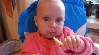 Kids Funny Video Babies make Funny Face When Try Lemon in the First Time