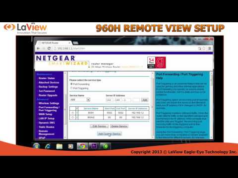 How to setup your dvr for remote view step by step LaView 960H Dvr system