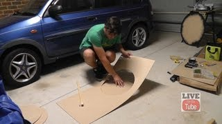 An easy way to cut a circle in 3mm MDF