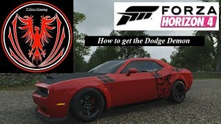 How to unlock the Dodge Demon in FH4