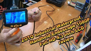 ZOTO Industrial Waterproof Endoscope Handheld 1080P Full HD 4 3 Inch LCD review