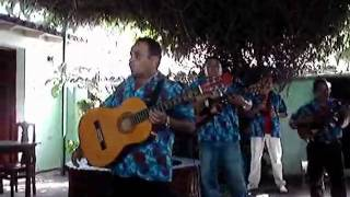 "Cuban music band playing ""El Comandante Che Guevara""."