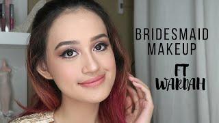 Bridesmaid Makeup Tutorial + Guide Milih Lipstick Nude | Wardah One Brand Makeup Tutorial