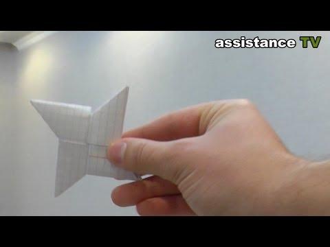 Летающий сюрикен из бумаги / Оригами из бумаги - Paper Ninja Star