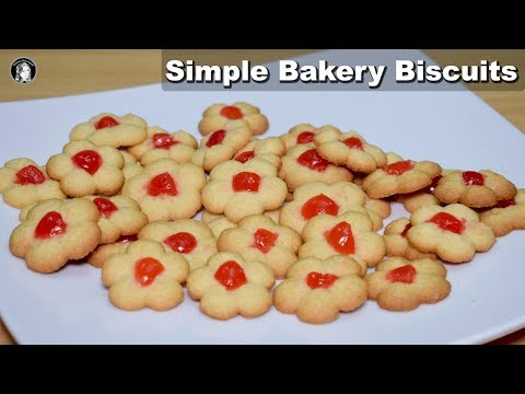 Bakery Biscuits (Without Oven) - Simple Cookies Recipe - Kitchen With Amna thumbnail