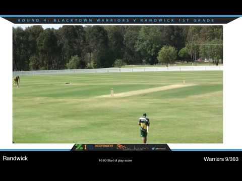 Blacktown Warriors v Randwick Petersham Round 3 NSW Premier Cricket Live Stream