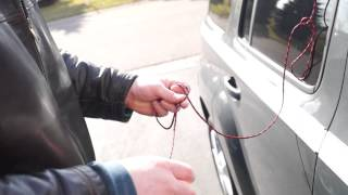 How to unlock a  car with a string (this really works)