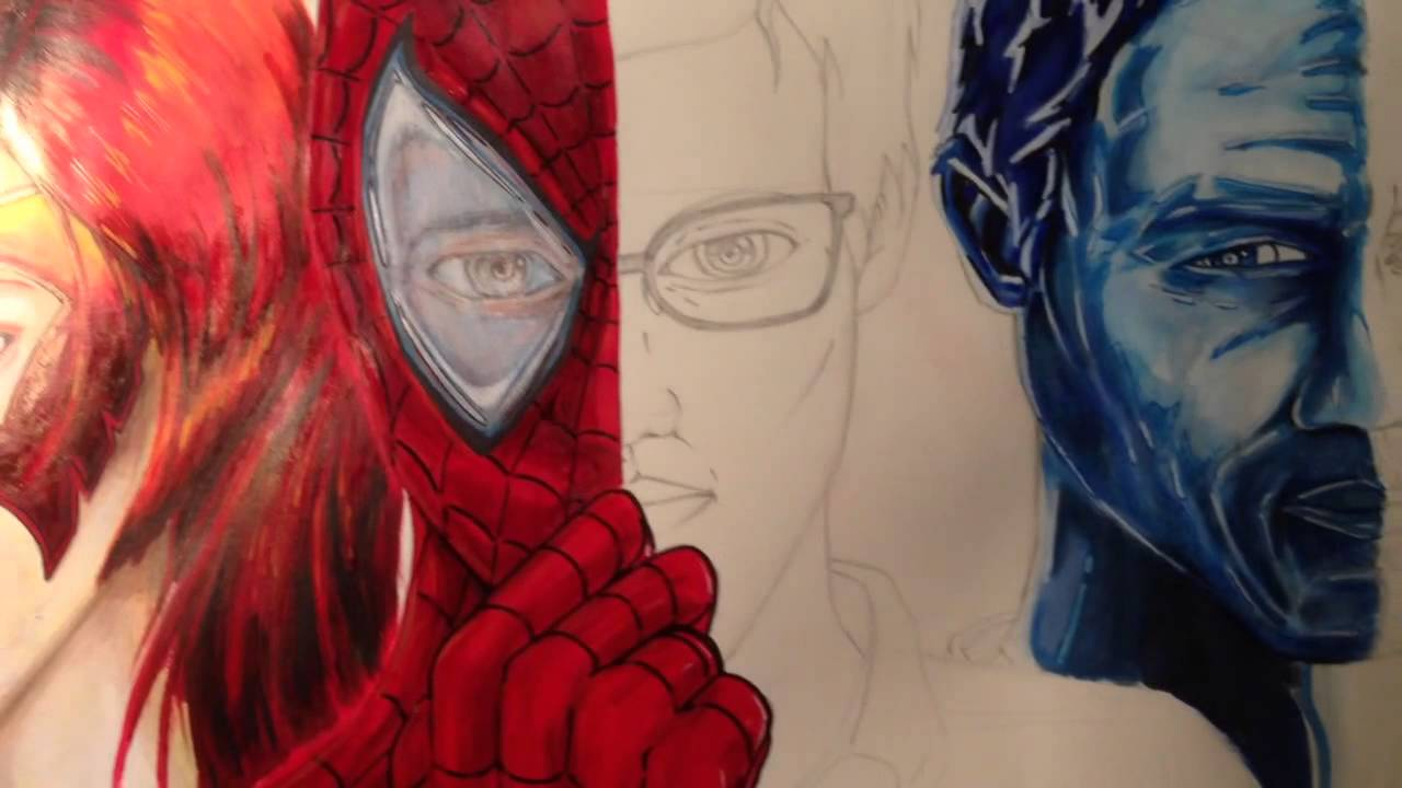 Fire star, spider-man and ice man project - YouTube