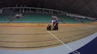 GB cyclist Philip hindes a day of training